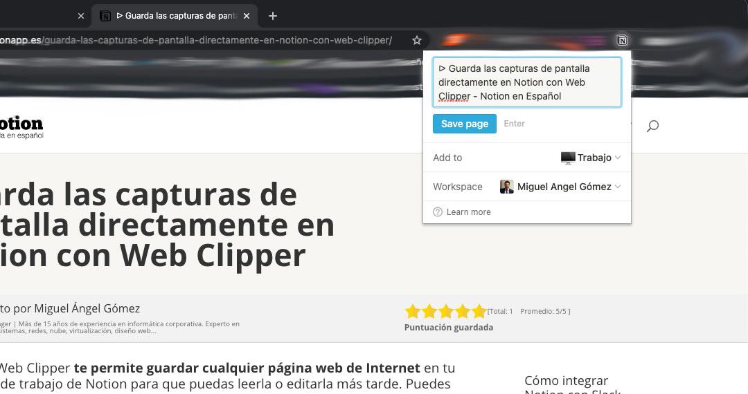 Web Clipper de Notion